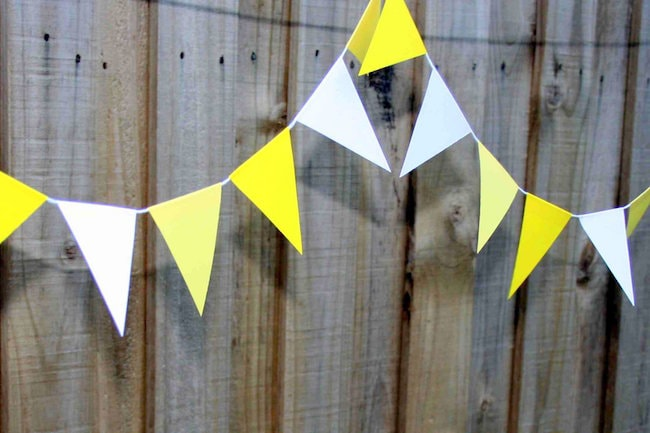 how to make paper bunting for wedding