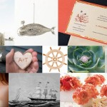 Inspiration Board: Coral & Grey