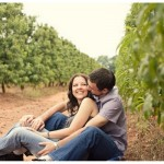 Peach Orchard Engagement Shoot