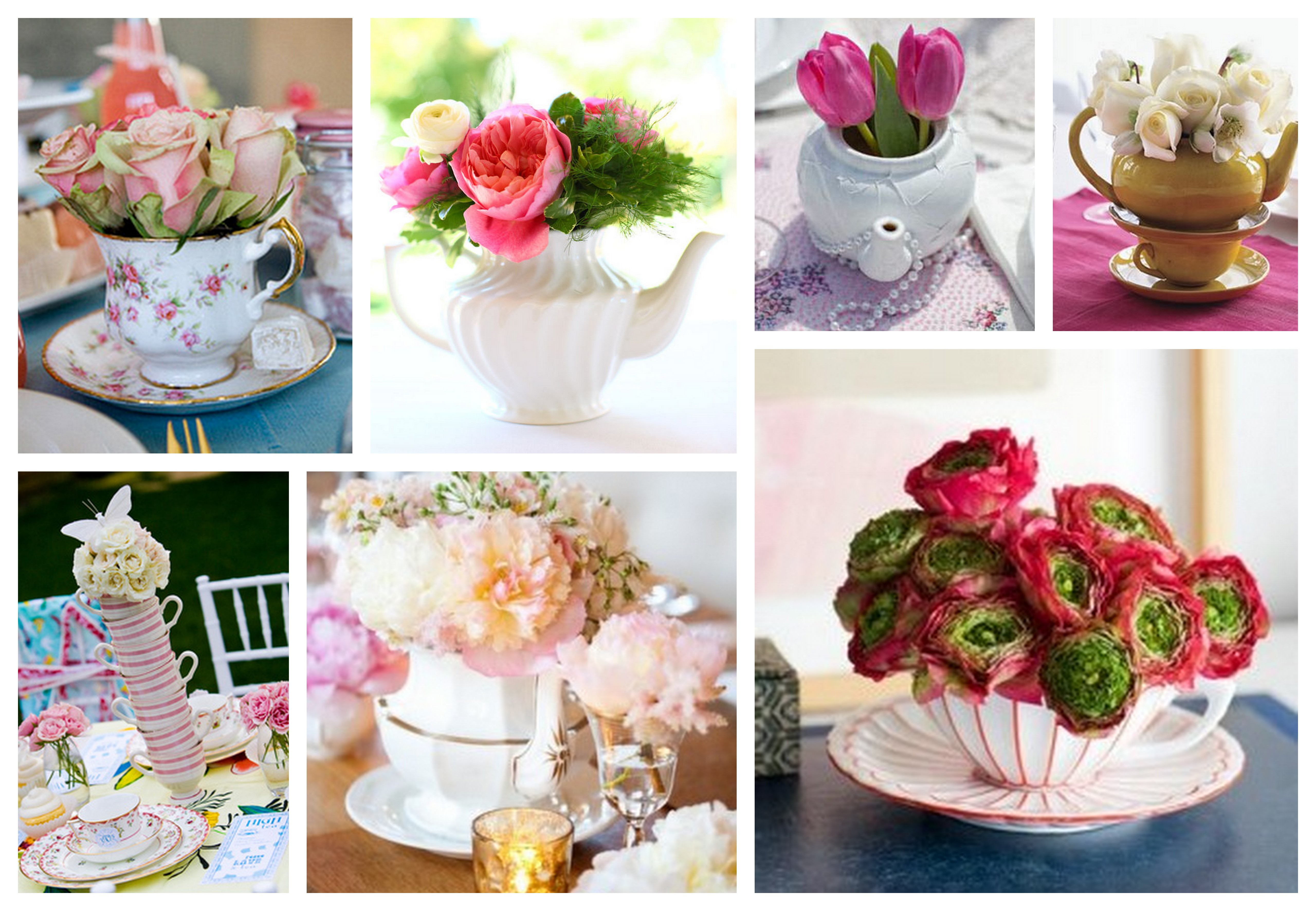 Rp Tea Party Wedding Theme Centrepieces