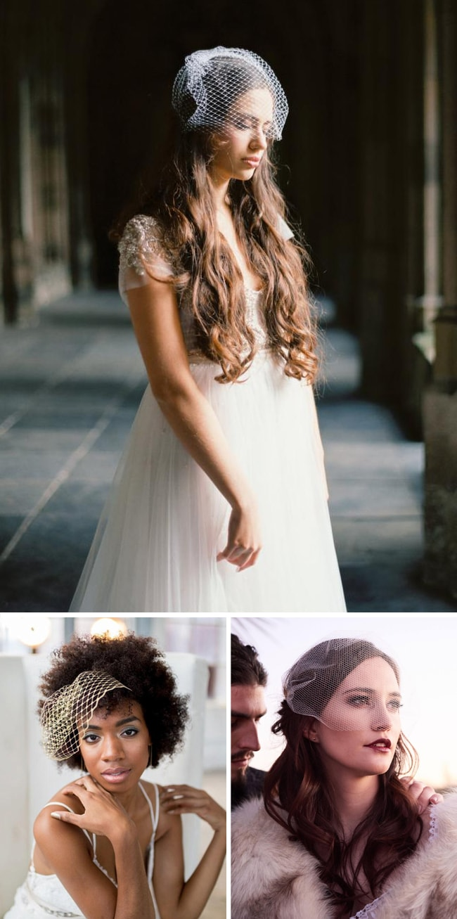How-to-Wear-a-Birdcage-Veil-with-Hair-Down