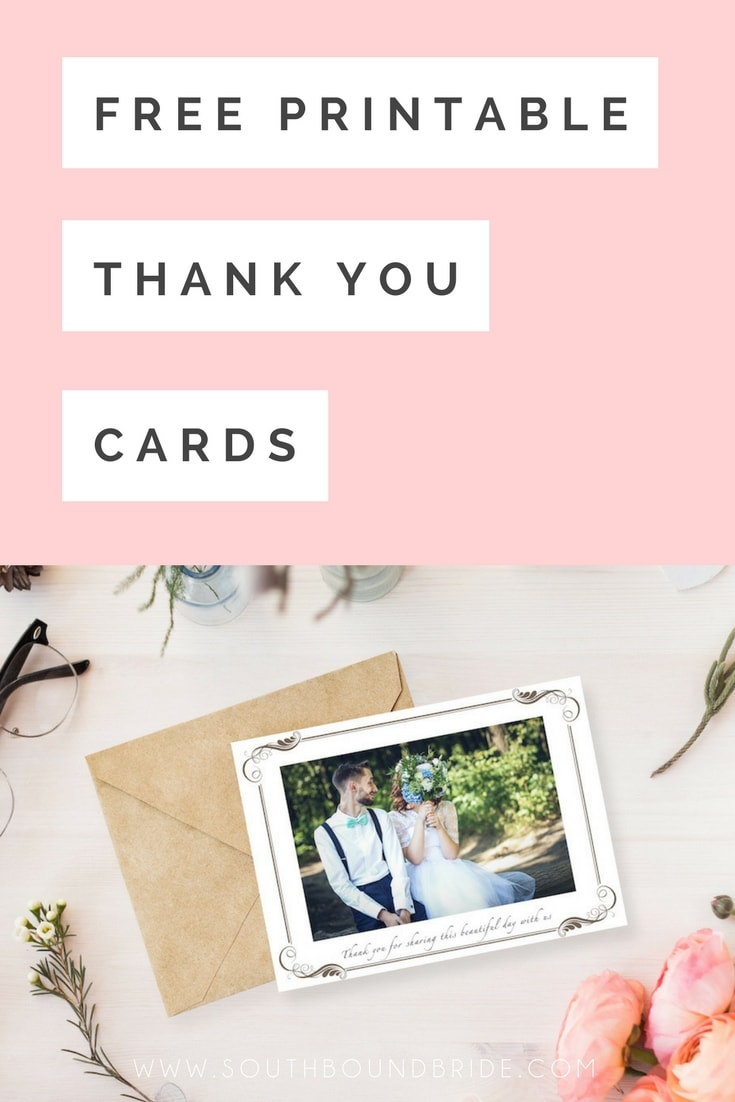 Free Printable Wedding Thank You Cards | SouthBound Bride