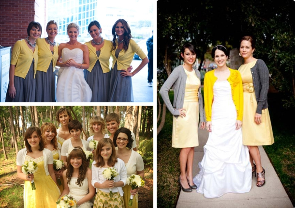 Bridesmaids in Cardigans