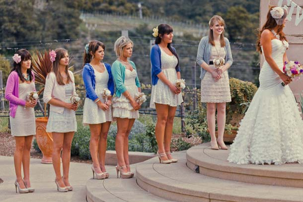 Bridesmaids in Cardigans