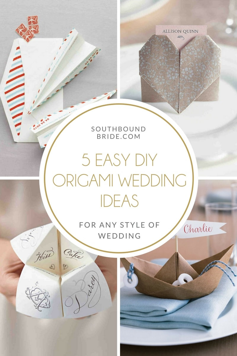 Easy Diy Origami Wedding Ideas Southbound Bride With Decorations