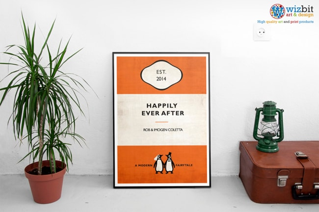 Literary Wedding Ideas Penguin Books Poster Wedding Gift