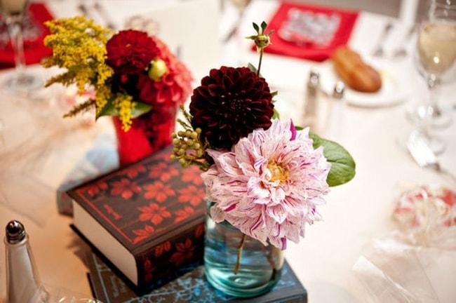 Literary Wedding Ideas Penguin Books Centerpiece