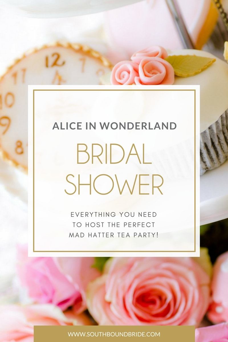 photo regarding Alice in Wonderland Printable named Alice within Wonderland Bridal Shower SouthBound Bride