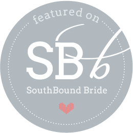 Featured on SouthBound Bride wedding blog