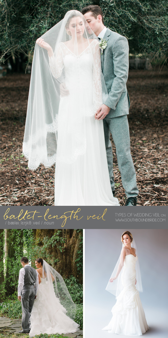Ballet Length Veil | Different Types of Wedding Veil | SouthBound Bride