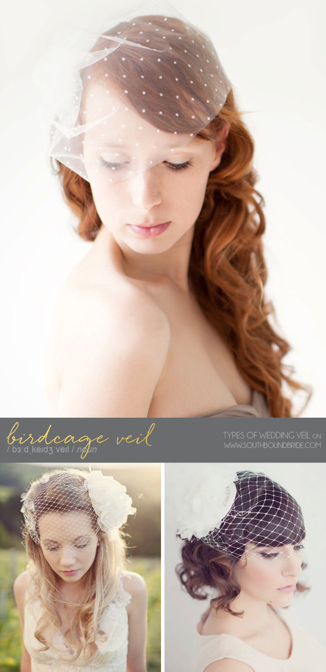 Birdcage Veils | Different Types of Wedding Veil | SouthBound Bride