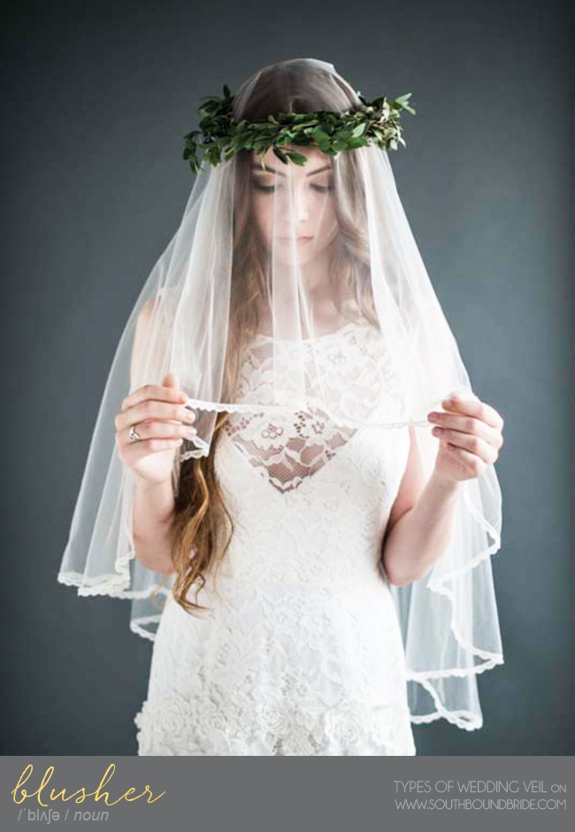 Blusher Veil | Different Types of Wedding Veil | SouthBound Bride
