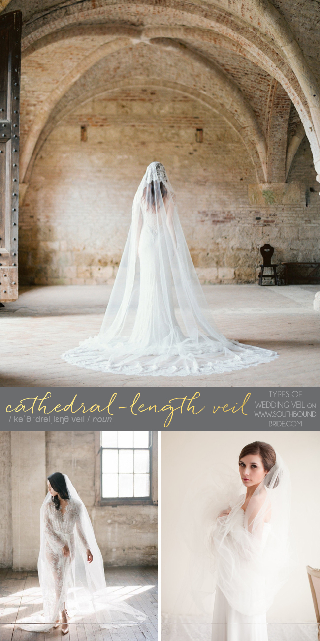 Cathedral Length Veil | Different Types of Wedding Veil | SouthBound Bride