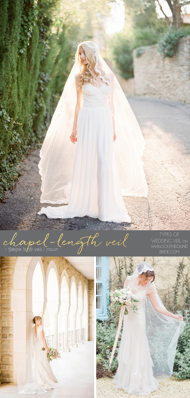 Chapel Length Veil | Different Types of Wedding Veil | SouthBound Bride