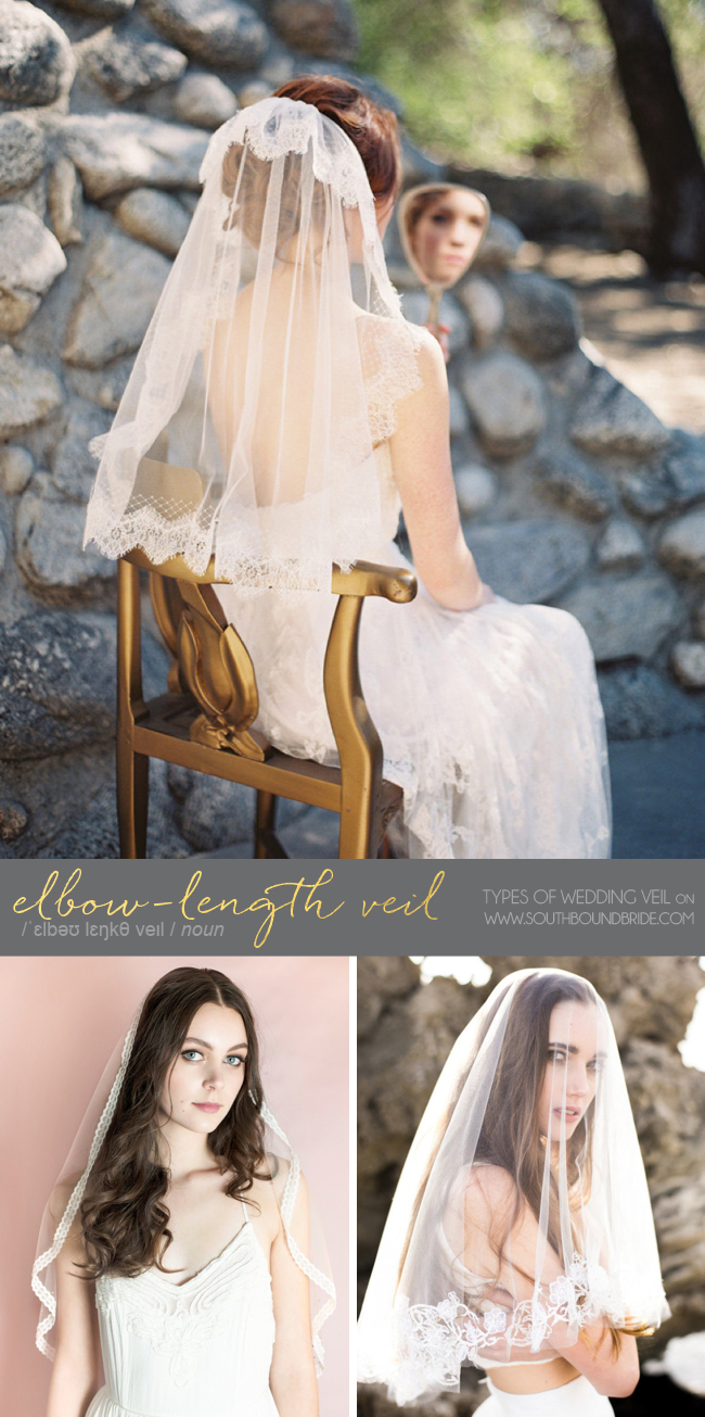 Elbow Length Veil | Different Types of Wedding Veil | SouthBound Bride