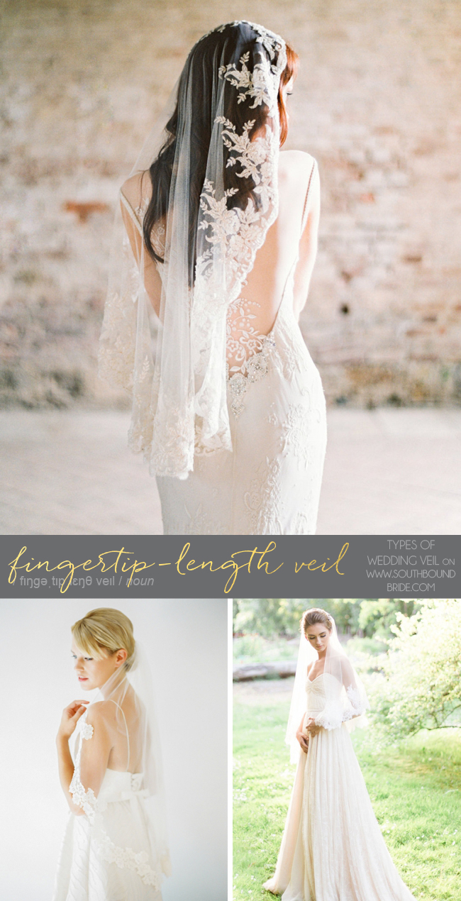 Fingertip Length Veil | Different Types of Wedding Veil | SouthBound Bride