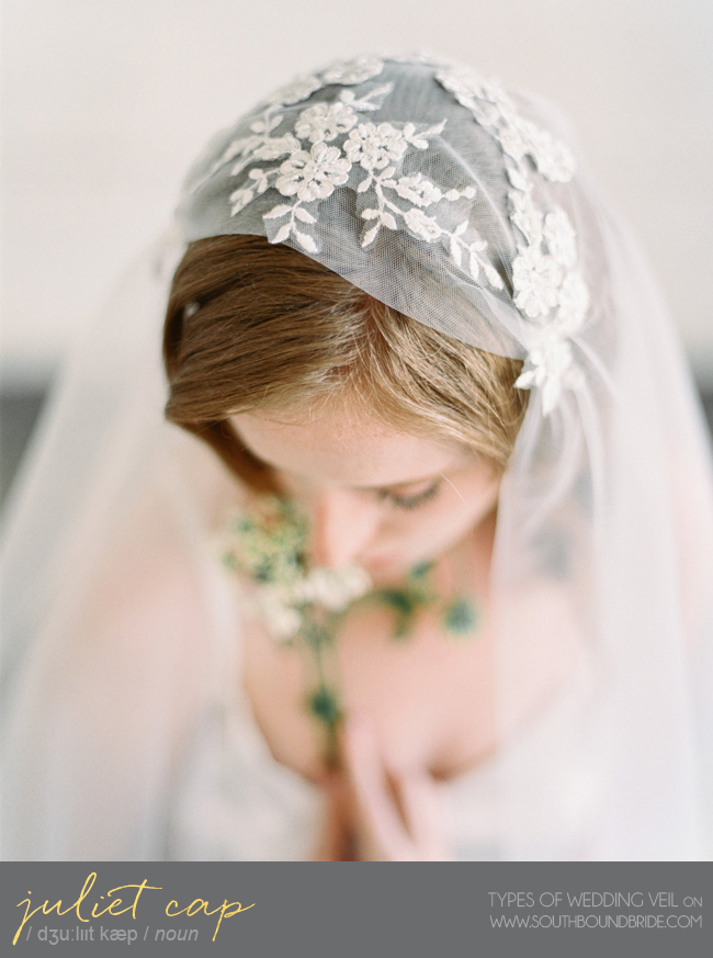 Juliet Cap Veil | Different Types of Wedding Veil | SouthBound Bride