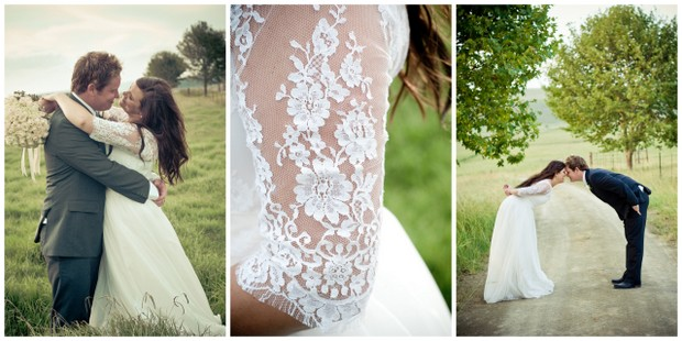 K G009 Real Farm Wedding Tink Photography Kzn Lace Dress