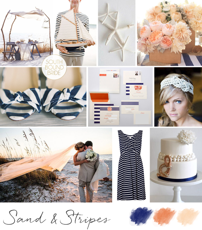 Inspiration Board: Sand & Stripes | SouthBound Bride