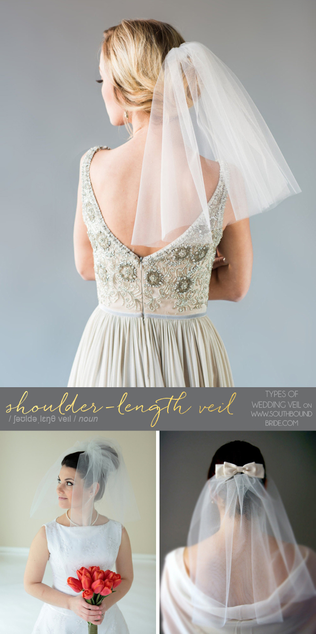 Shoulder-Length Veils | Different Types of Wedding Veil | SouthBound Bride