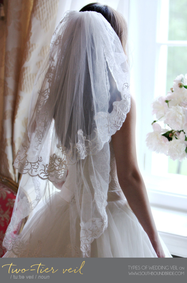 Two-Tier Double Veil | Different Types of Wedding Veil | SouthBound Bride