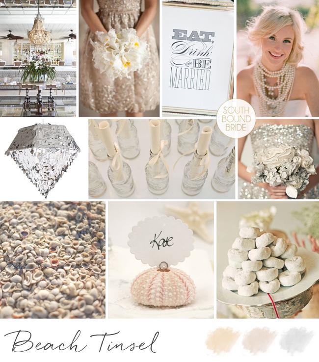 Inspiration Board: Beach Tinsel | SouthBound Bride