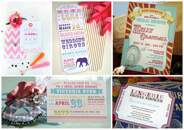 Circus Themed Bridal Showers