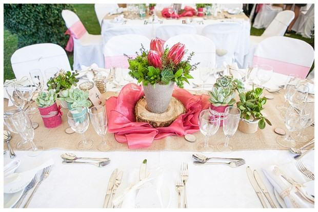 Protea themed Wedding At The Bridge In Muldersdrift By Melanie Wessels