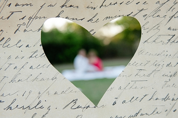 love letter themed engagement shoot by dear wesleyann