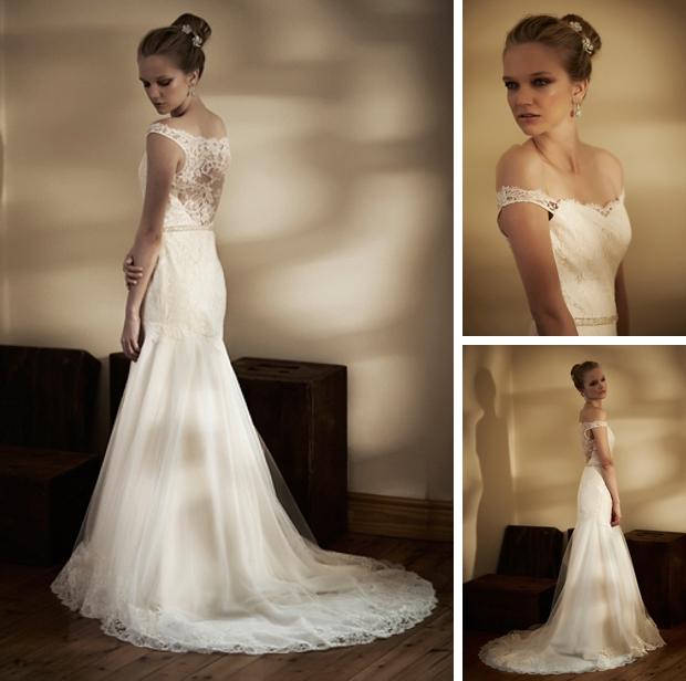 Illusion or Portrait Back Wedding Dresses