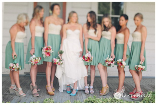 Mismatched Shoes for Your Bridesmaids