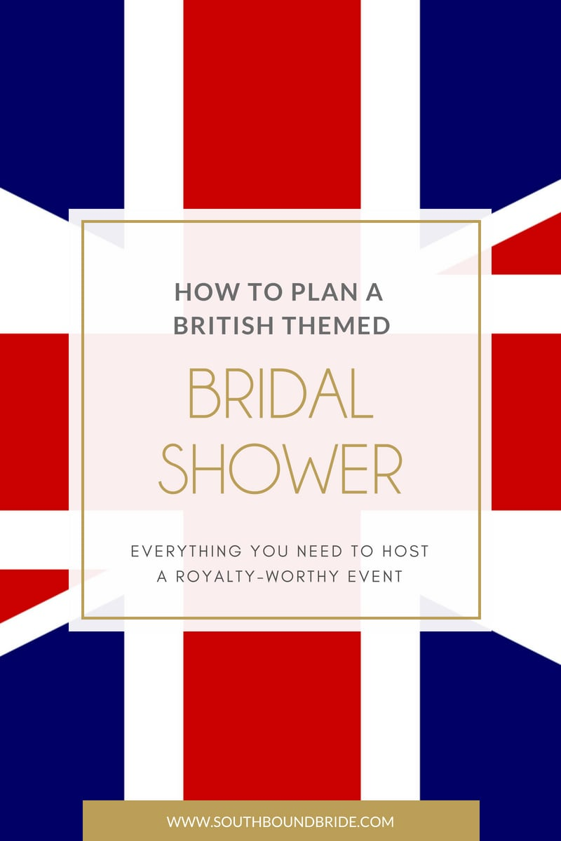 London Union Jack British Royal Wedding Themed Bridal Shower