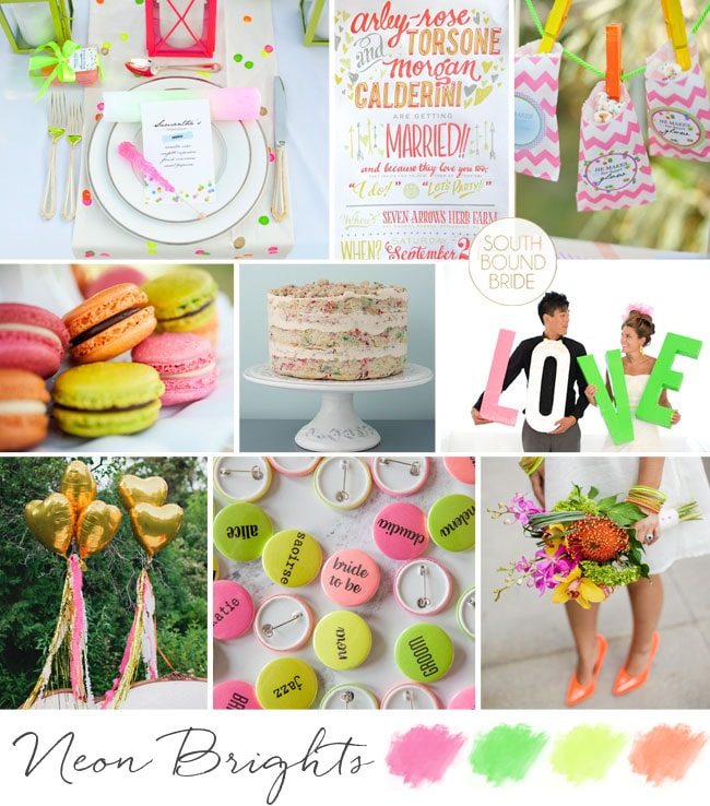 Inspiration Board: Neon Brights | SouthBound Bride