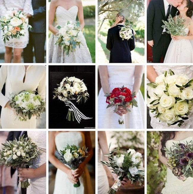 Olive Leaf Wedding Bouquets