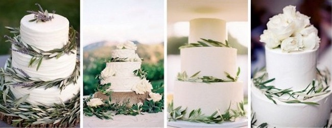 Wedding Cake Olive Leaves