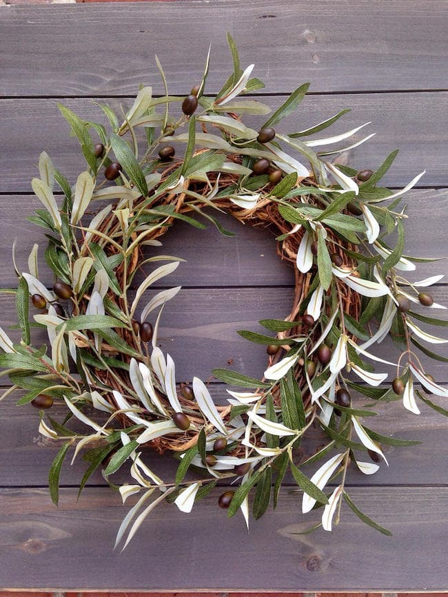 Olive Branches Wedding Wreath