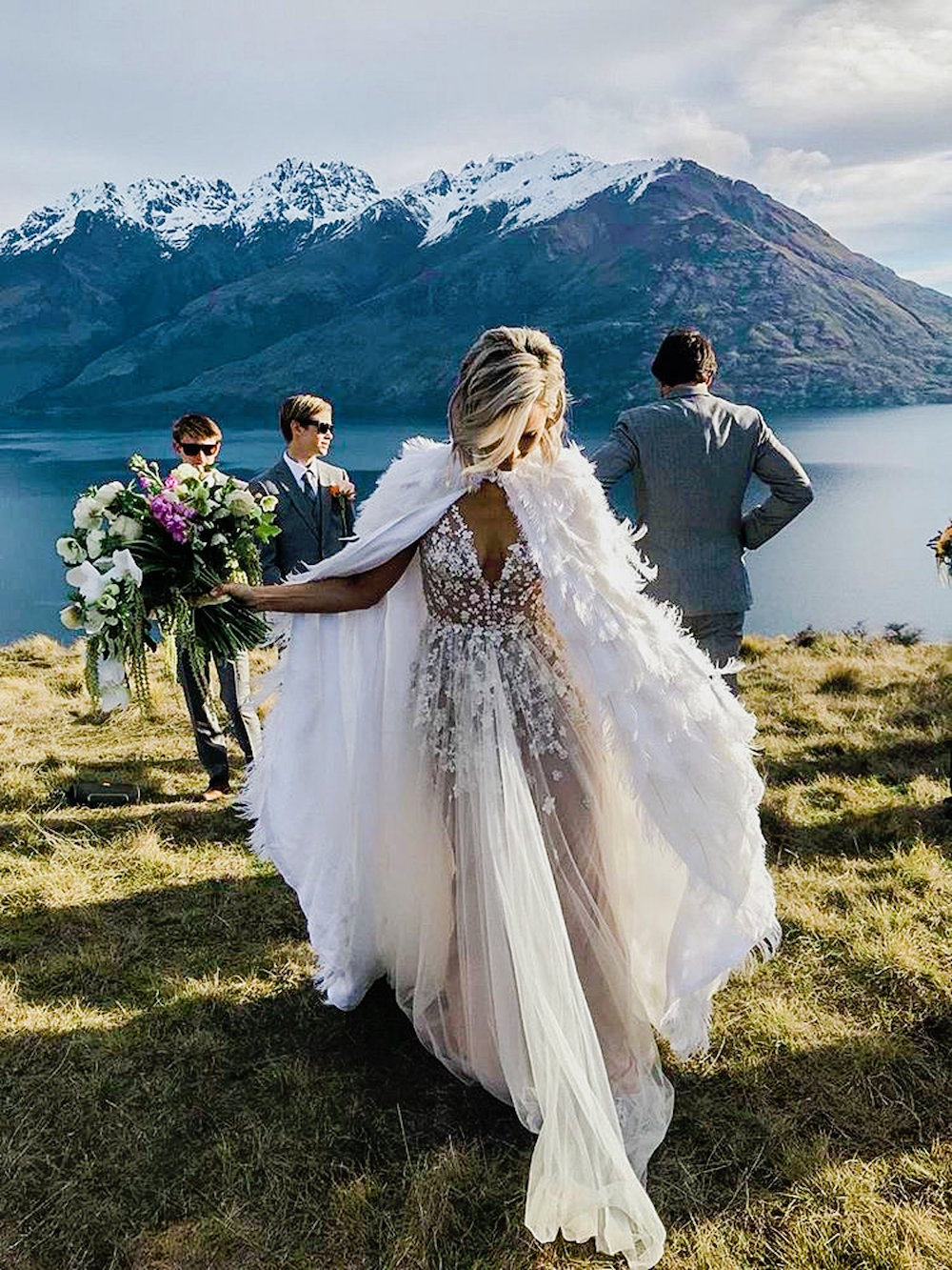 Feather Wedding Capes