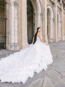 Feather Wedding Dresses