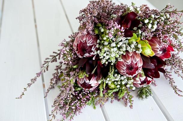 CampE002 Southboundbride Die Walskipper Monica Dart Rustic Beach Wedding Protea Bouquet