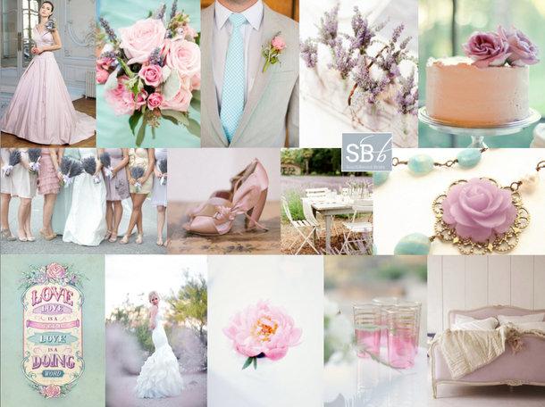 Lavender, Pink and Aqua Inspiration Board