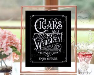 Wedding Whisky Bar Sign