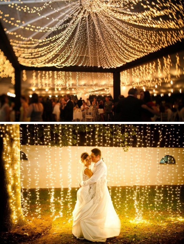 Twinkle lights for weddings for Wedding video lighting