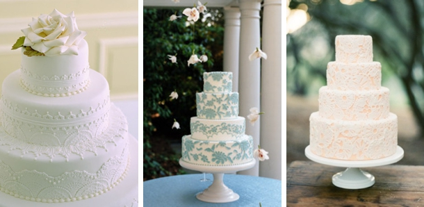 Easy Lace Cake Design : southboundbride-lace-wedding-cakes-007   SouthBound Bride