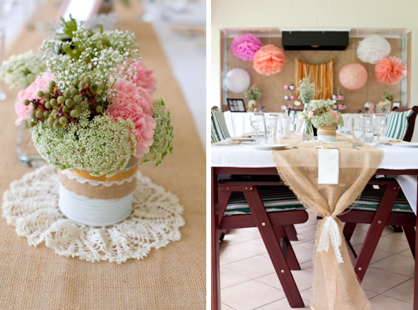 Rustic coral bridal shower from alana meyer photography for Classy kitchen tea ideas