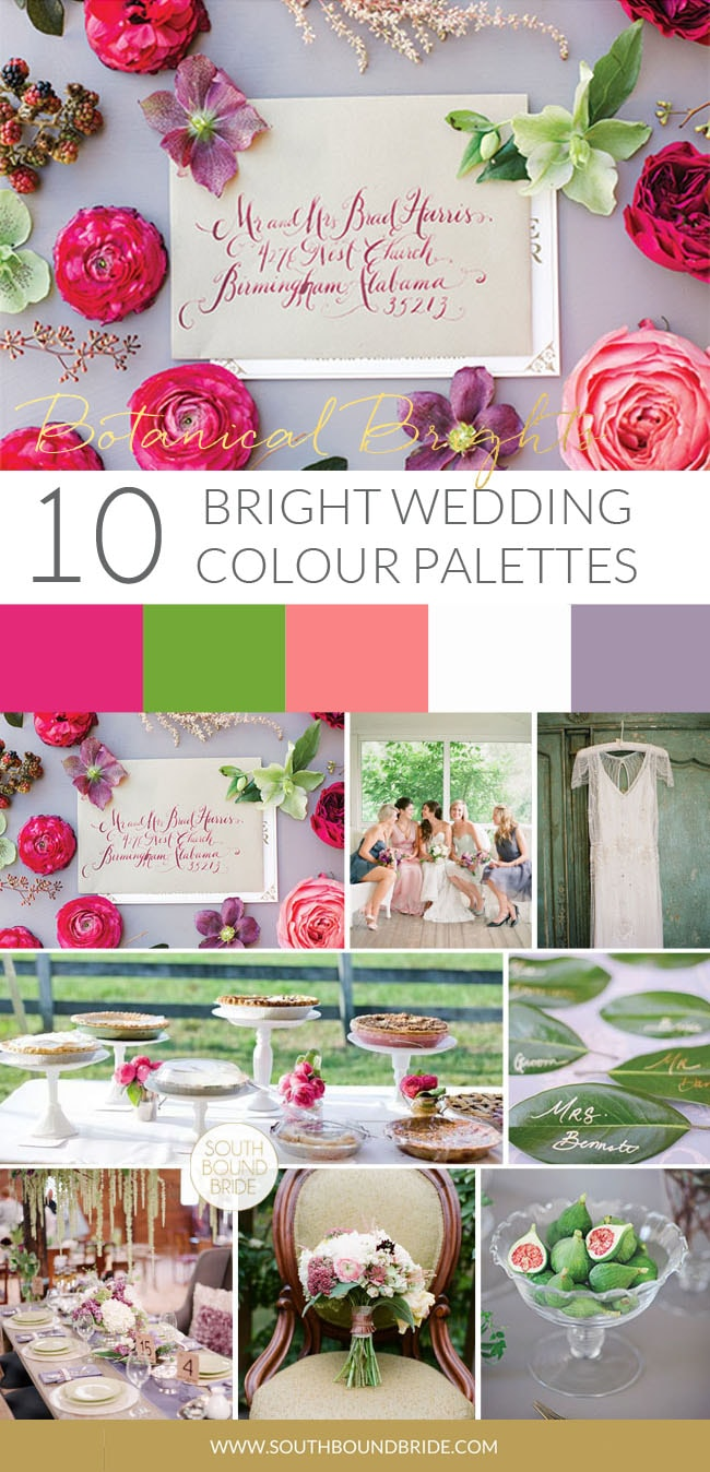 Botanical Brights Wedding Palette | SouthBound Bride