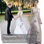 Affordable Coloured Wedding Dresses {Adrianna Papell & Elliot Claire}