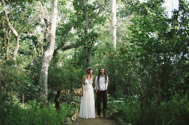 Bohemian Forest Wedding by Love Made Visible