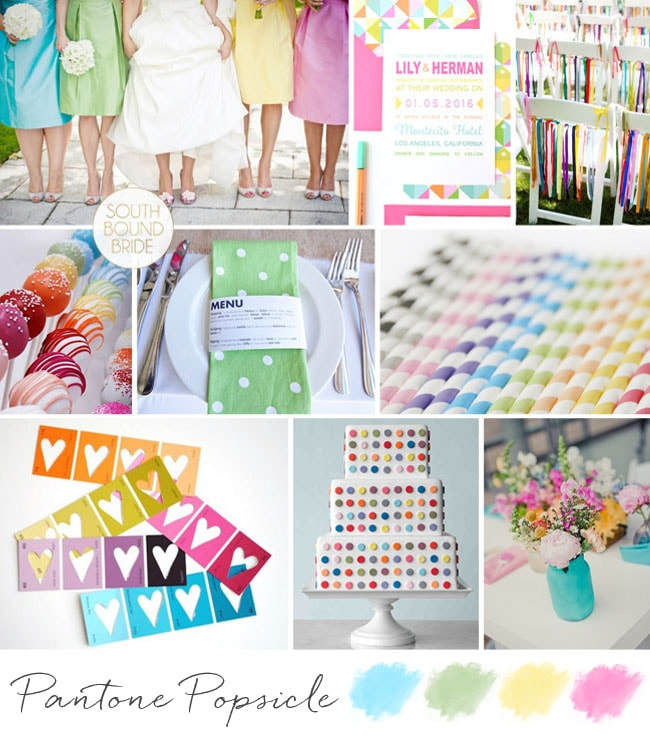 Pantone Popsicle Inspiration Board | SouthBound Bride