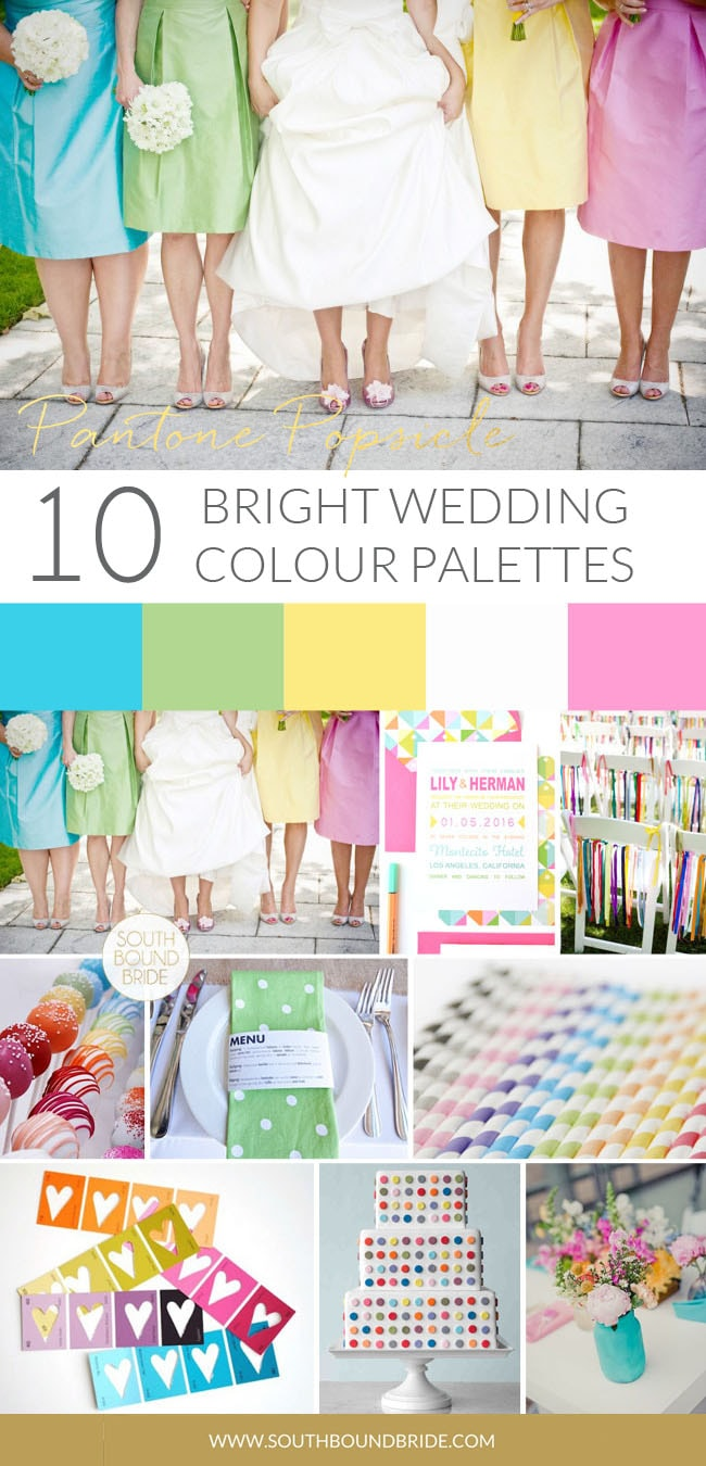 Pantone Popsicle Colorful | SouthBound Bride