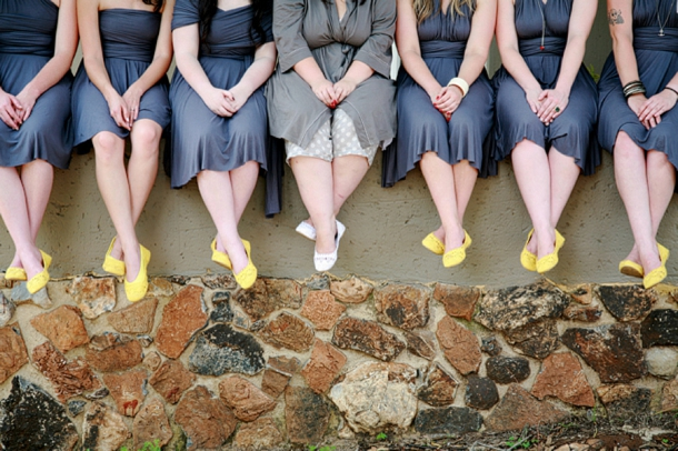Bridesmaid Yellow Ballet Flats | Image: As Sweet As Images